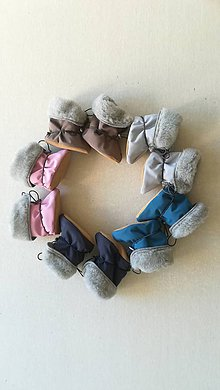 Topánočky - VLNIENKA barefoot termo zimné capačky pre bábätká a batoliatka 100 % ovčie runo merino TOP SUPER WASH GREY - 11211630_