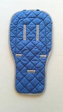 Textil - VLNIENKA podložka do kočíka INGLESINA APTICA s prešitím ELEGANT grey - 11213575_