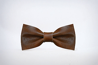 Doplnky - Kožený motýlik Vintage - 11212035_