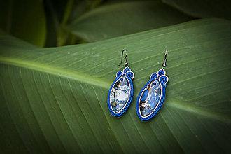 Náušnice - Mineral - Ručne šité šujtášové náušnice - Soutache earrings - 11210827_
