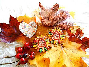 Náušnice - Jesenné kamienkové - 11213234_