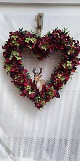 Dekorácie - Srdce z lupeňov ... veniec - 11213064_