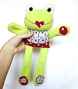 Hračky - Textilné zvieratko - Žabka námorníčka - 11212152_