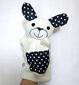 Hračky - Maňuška zajac - Zajko z Modrého Bodkova - 11212954_