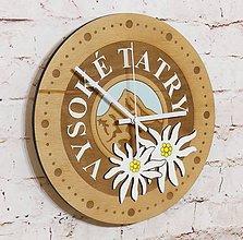"""Hodiny - Drevené nástenné hodiny """"TATRY"""" - 11213434_"""