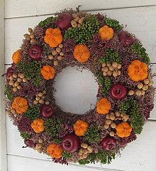 Dekorácie - jesenný veniec - 11212740_