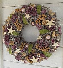 Dekorácie - Vianočný veniec prírodný - 11212810_