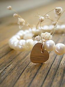 Náramky - Srdce medzi perlami - 11210963_