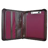 Tašky - Elegantná kožená spisovka v tmavo hnedej farbe - 11212429_