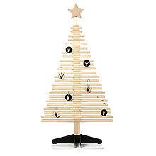 Dekorácie - Drevený vianočný stromček 110 cm - 11210696_
