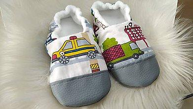 Topánočky - Capačky autíčka 3-4 roky - 11213257_