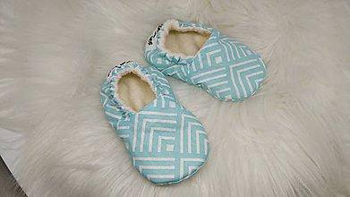 Topánočky - Capačky mentolkové novorodenecké - 11213288_