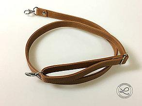"""Materiál ručne robený - Kožený popruh hnedý """"LAHTON"""" na kabelku, tašku - 11212931_"""