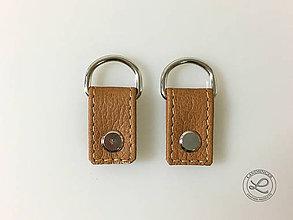 """Materiál ručne robený - Kožené pútka hnedá """"LAHTON"""" na kabelku s D-krúžkom na skrutkovacie nity - 11212958_"""