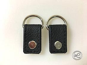 """Materiál ručne robený - Kožené pútka čierna """"LAHTON"""" na kabelku s D-krúžkom na skrutkovacie nity - 11213194_"""