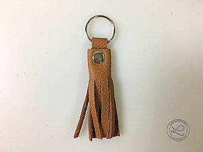 """Materiál ručne robený - Kožený strapec hnedý """"LAHTON"""" s krúžkom. - 11213418_"""
