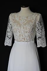 Šaty - Svadobné šaty s transparentným živôtikom - 11212344_