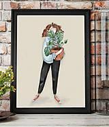 Grafika - Jedna milá kvetinárka - 11210648_