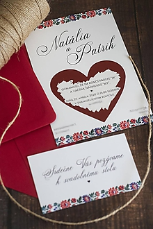 Papiernictvo - FOLK ľudové svadobné oznámenie - stieracie ❤ - 11211302_