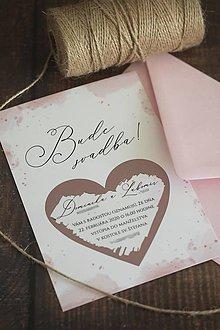 Papiernictvo - Svadobné oznámenie - Ružový akvarel ❤ - 11211316_