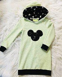 Detské oblečenie - Detské pískacie mikinošaty - 11212947_