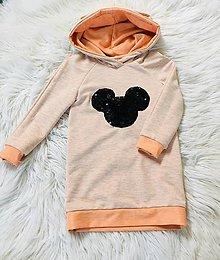Detské oblečenie - Detské pískacie mikinošaty - 11212971_