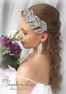 Ozdoby do vlasov - Svatební listy do účesu - 11213211_