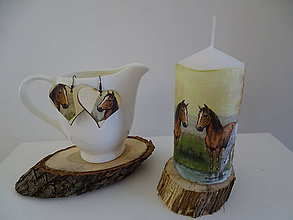Svietidlá a sviečky - Sviečka kone - 11211798_