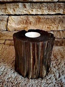 Svietidlá a sviečky - Rustikálny svietnik - 11210117_
