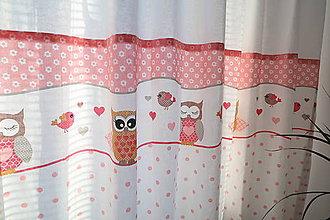 Úžitkový textil - Dekoračné závesy do detskej izby - kolekcia Sovička - 11212419_