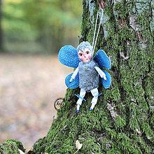 Hračky - Pán Motýlik - Modrý - 11212276_