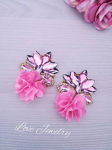Náušnice - Náušnice ružové Ria - 11212989_