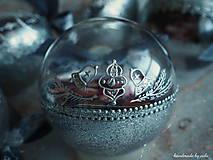 Dekorácie - RUŽOVO-FIALOVÉ vianočné gule s 3D fotkou - 11210329_