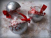 STRIEBORNO ČERVENÉ vianočné gule s 3D fotkou