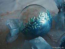 Dekorácie - MODRÉ vianočné gule s 3D fotkou - 11210505_