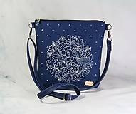 Kabelky - Dara modrá + modrotlač AM 5 - 11212612_