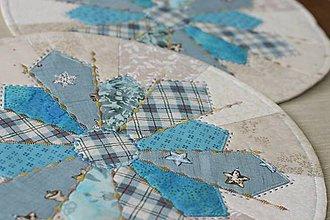 Úžitkový textil - prestierania snehová vločka - 11211076_