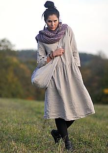 Šaty - Režné šaty lněné - 11213298_
