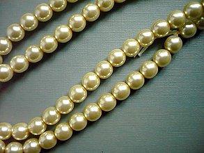 Minerály - Perly smetanové - kulaté, 8 mm, 2 ks - 11212498_