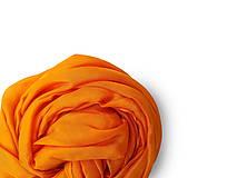 """Šály - """"orange yellow"""" hodvábny šál (pléd, štóla) SKLADOM - 11212191_"""