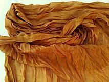 """Šály - """"gold brown"""" hodvábny šál (pléd, štóla) SKLADOM - 11213479_"""