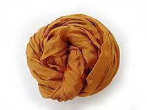 """Šály - """"gold brown"""" hodvábny šál (pléd, štóla) SKLADOM - 11213481_"""