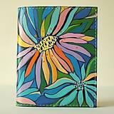 Papiernictvo - Flower's ocean - kožená dokladovka - 11211501_