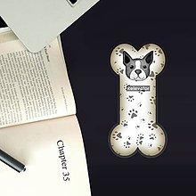 Papiernictvo - Psia záložka do knihy - labky (bostonský teriér) - 11212027_