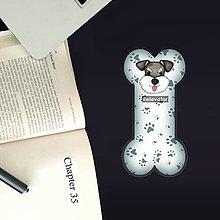 Papiernictvo - Psia záložka do knihy - labky (bradáč) - 11212034_