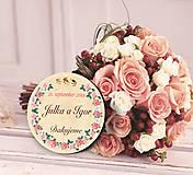 Darčeky pre svadobčanov - Svadobná magnetka - 11216118_