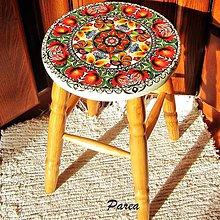 Nábytok - Drevená stolička- folk - 11216527_