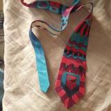 Doplnky - Maľovaná hodvábna kravata GEO - 11216399_