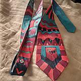 Doplnky - Maľovaná hodvábna kravata GEO - 11216400_