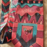 Doplnky - Maľovaná hodvábna kravata GEO - 11216401_